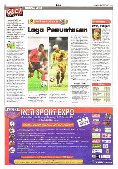 PERSIKABO VS JAKARTA FC LAGA PENUNTASAN
