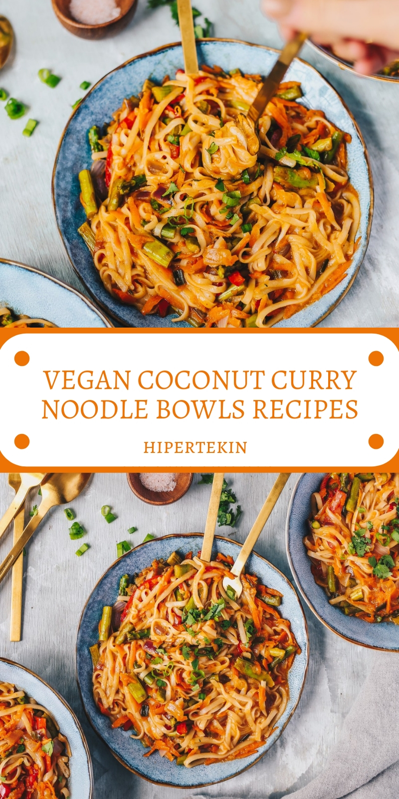VEGAN COCONUT CURRY NOODLE BOWLS RECIPES