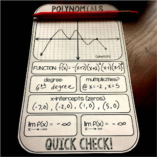 Polynomials Quick Check