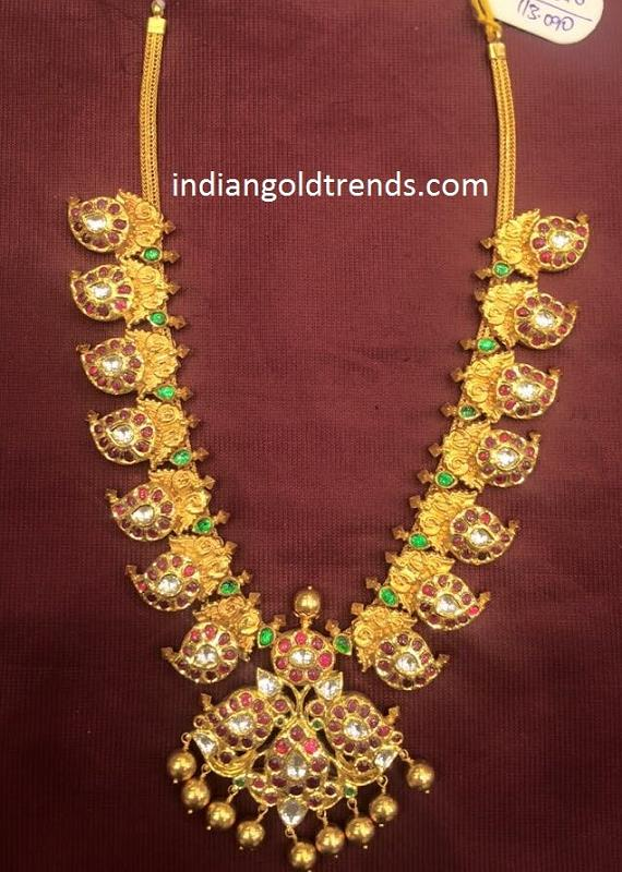 Gold Kundan Mango Necklace