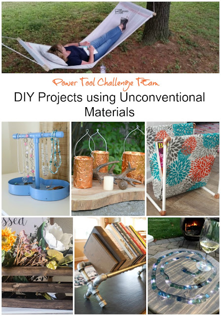Power tool challenge team DIY Projects using unconventional materials