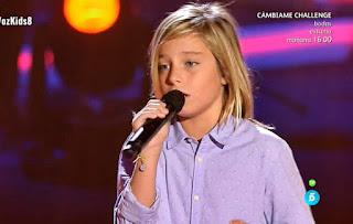Izan Llunas canta Love Yourself de Justin Bieber la voz kids 2017