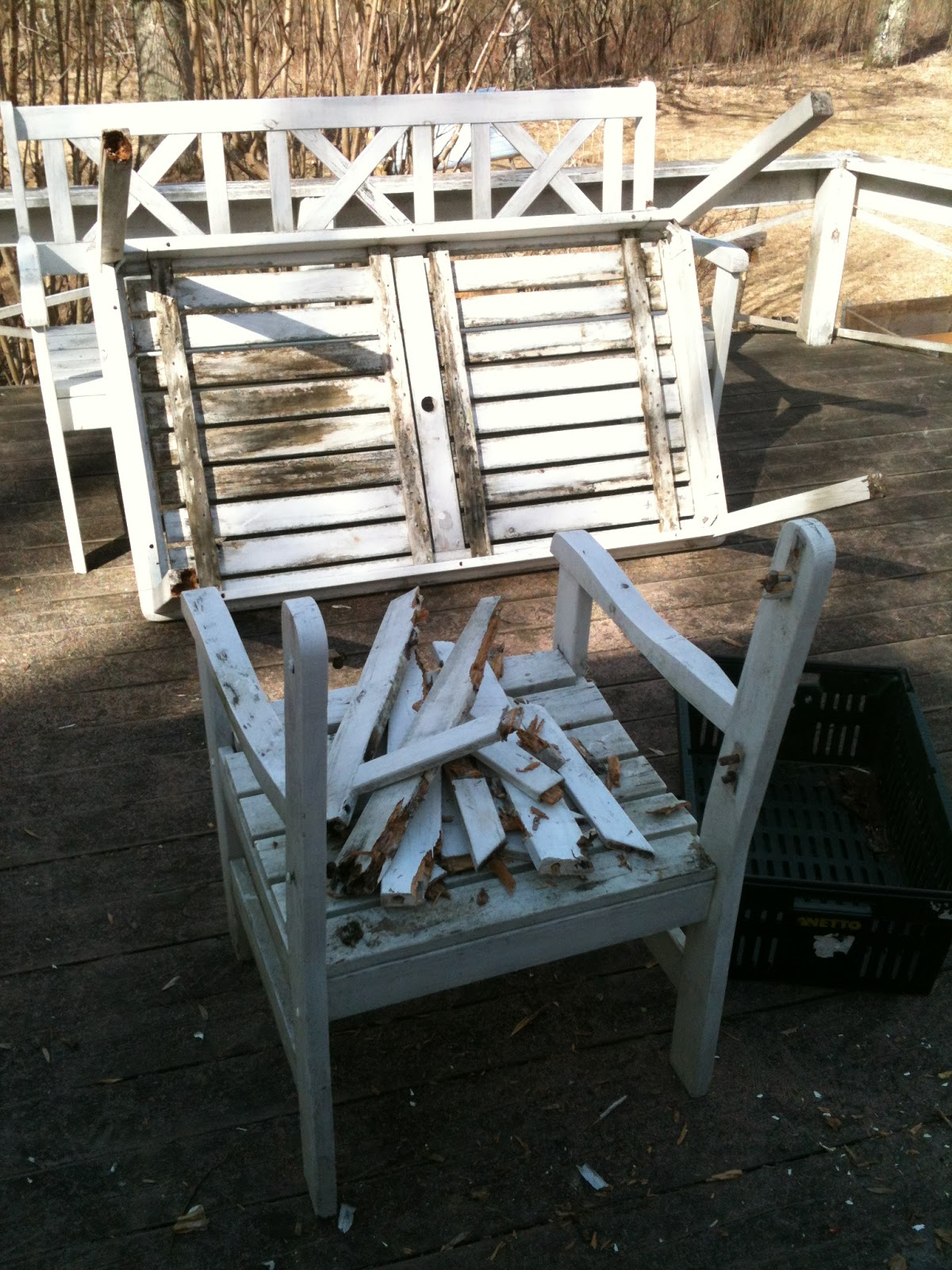 repair garden chairs the chair outlet chop wood carry water plant seeds repairing furniture when i took table and out this year was surprised how fast mould rot they were almost distroyed totally so decided to