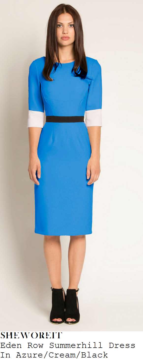 susana-reid-eden-row-summerhill-azure-blue-cream-and-black-pencil-dress