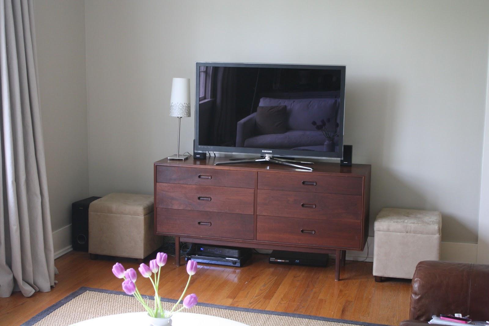 dwell and tell Living Room Progress  Dresser for TV