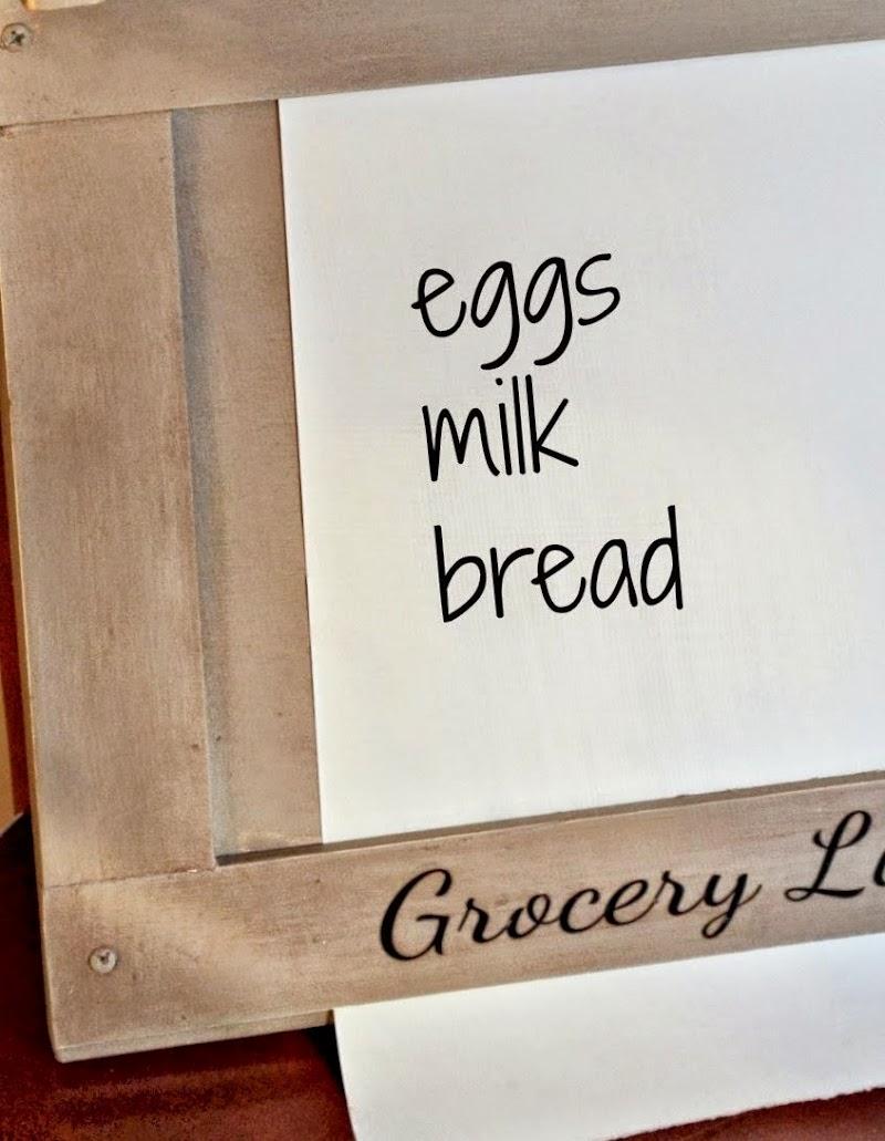 DIY Grocery List Roll
