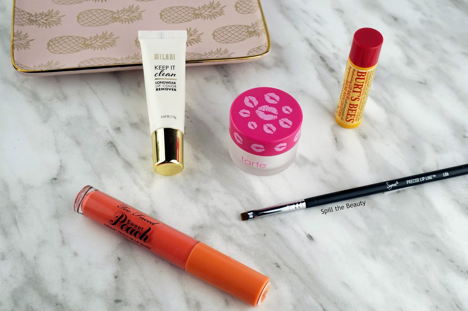 lip swatch survival kit milani remover too faced sweet peach oil sigma l06 tarte lip scrub burts bees pomegranate
