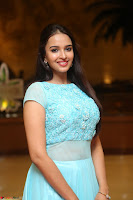 Pujita Ponnada in transparent sky blue dress at Darshakudu pre release ~  Exclusive Celebrities Galleries 005.JPG