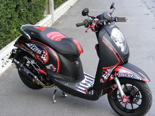 Modifikasi Stiker METAL Honda Scoopy Klop