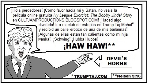 Donald Trump español bedeo