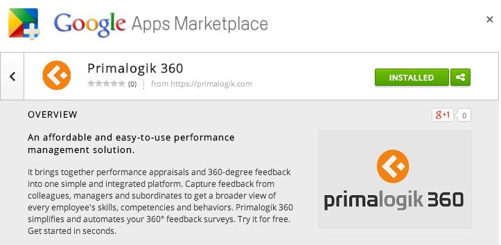 Primalogik 360 on the Google Apps Marketplace