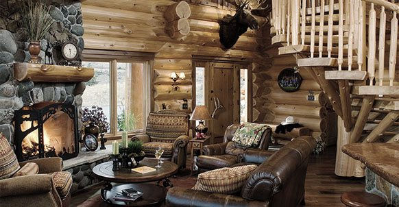 Reflecting An Era Of Log Cabin Simplicity Rustic Fireplace Mantels Are Making A Strong Return Into The Mainstream Modern Living With Hand Hewn Textures