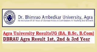 Dr. Bhim Rao Ambedkar University B.A. B.com and B.Sc exam result 2018 DBRAU