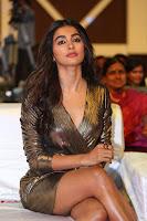 Pooja Hegde looks glamarous in deep neck sleevless short tight golden gown at Duvvada Jagannadham thank you meet function 143.JPG