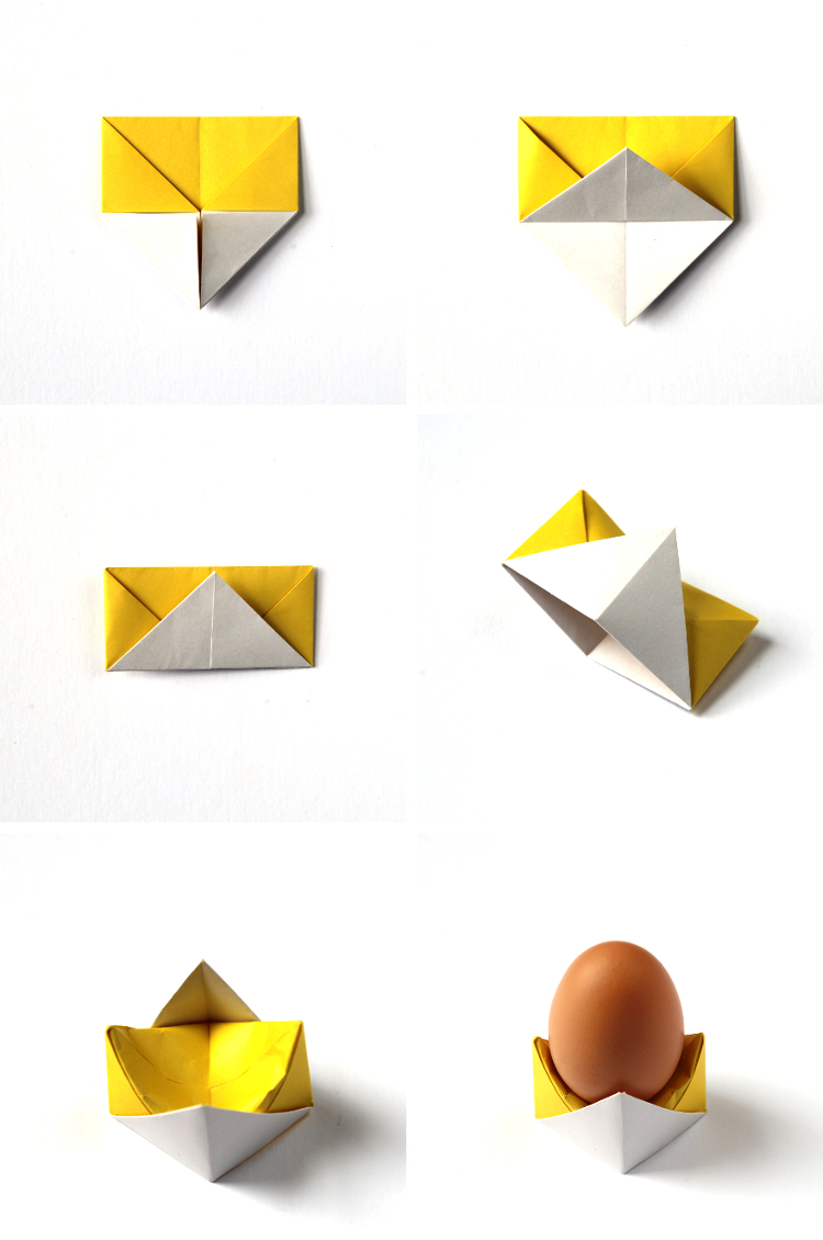 diy origami egg cups gathering beauty