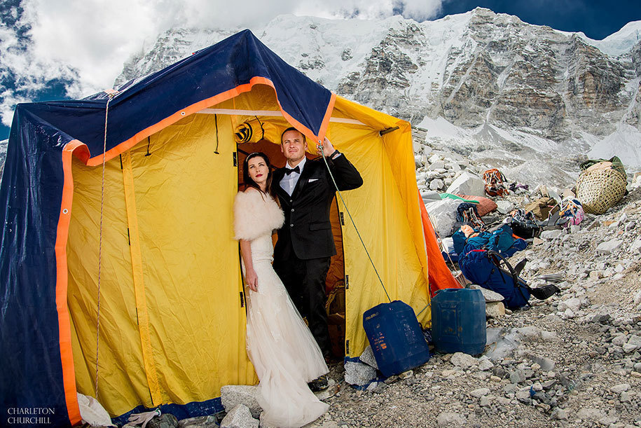 got married on mt everest