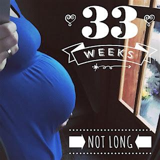 Babybauch in der 33 SSW
