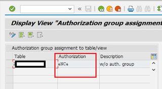 Authorization Group Table Warning