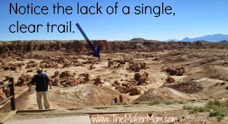 Goblin Valley State Park Does lack of a clear path lead to vandalism?