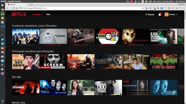 Navegando pela Netflix no Linux