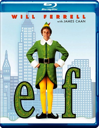Poster Of Elf 2003 English 300MB BRRip 576p Free Download Watch Online