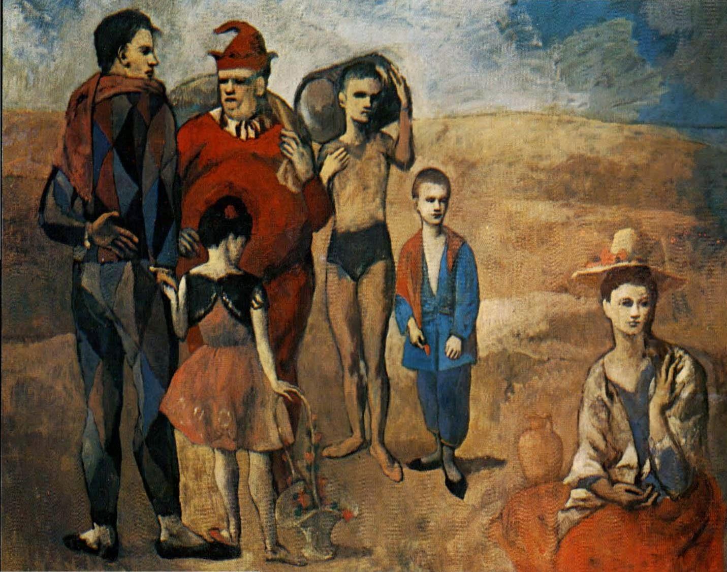 A Família de Acrobatas - Picasso e suas pinturas ~ O maior expoente da Arte Moderna