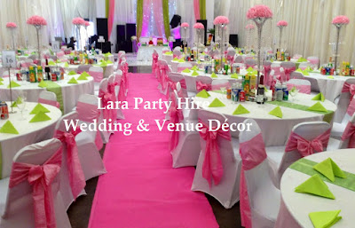 Lara Party Hire Baby Pink Lime Green Decor
