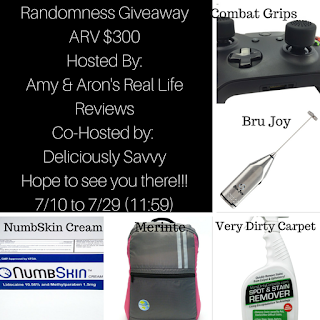 Enter the Randomness Giveaway. Ends 7/29