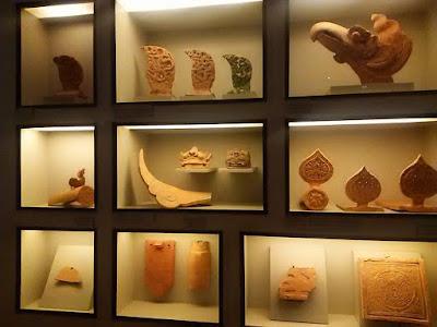 タンロン皇城内の博物館展示品