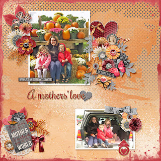 Creative Team, Annemarie, for GingerScraps -  Brushed #4 Template Set by Aimee Harrison and Celebrate Motherhood Kit by JoCee Designs and FREE Coordinating Cluster