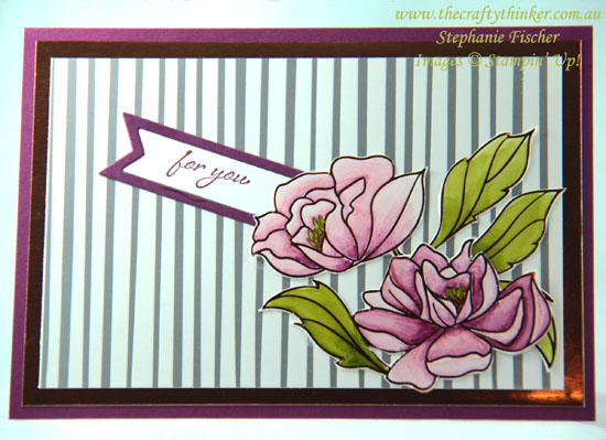 #thecraftythinker, #stampinup, #saleabration, #cardmaking, Sale-A-Bration, Springtime Foils, Stampin' Blends, Stampin' Up! Australia Demonstrator, Stephanie Fischer, Sydney NSW
