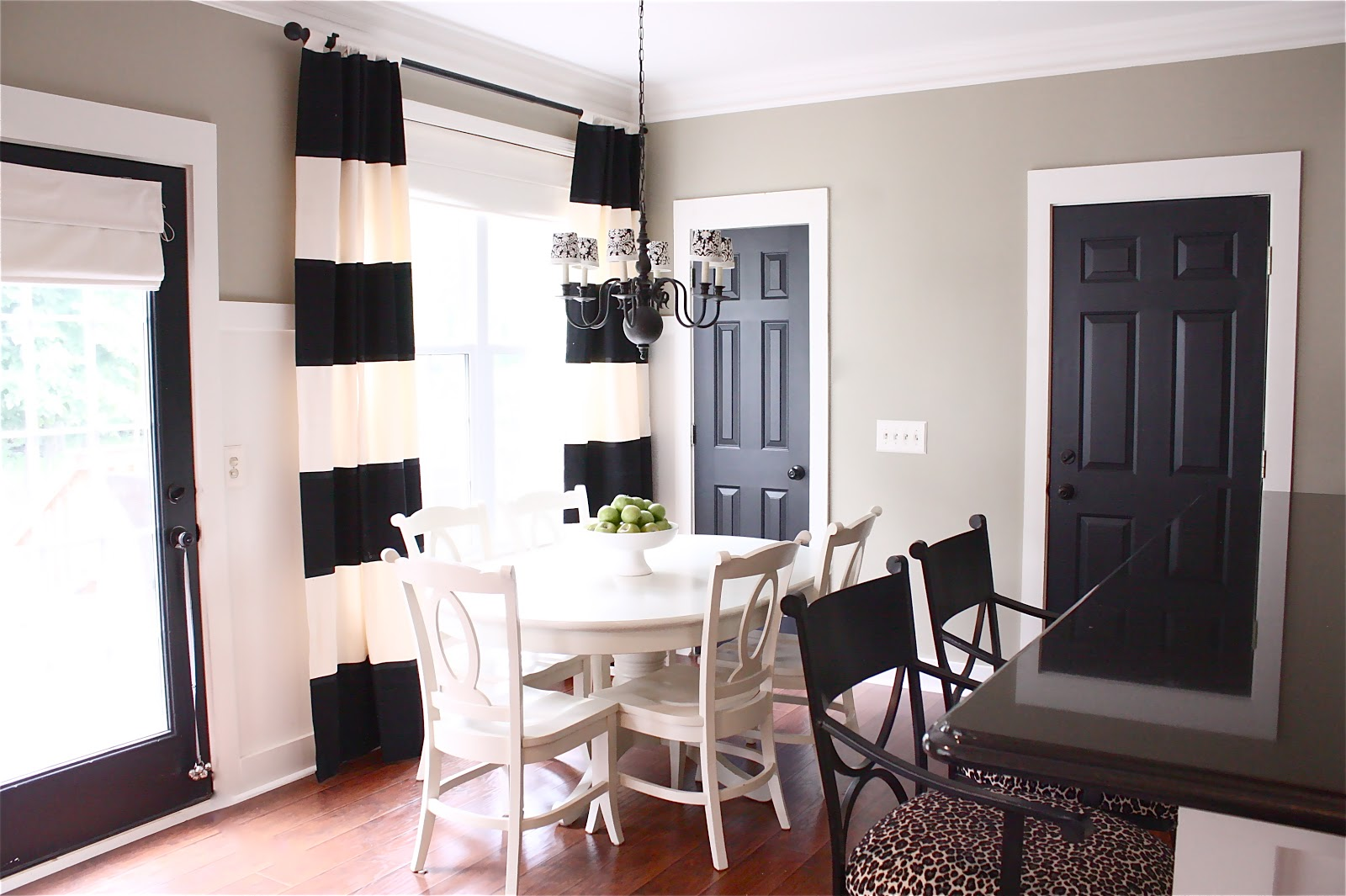 Image result for black interior doors with white trim before and after