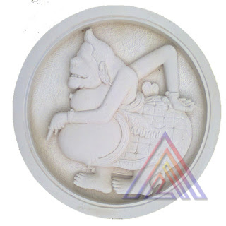 Ukiran relief batu alam paras jogja gambar semar