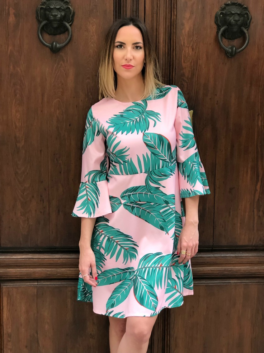 Fitness And Chicness-Leaf Print Dresses La Familia-11