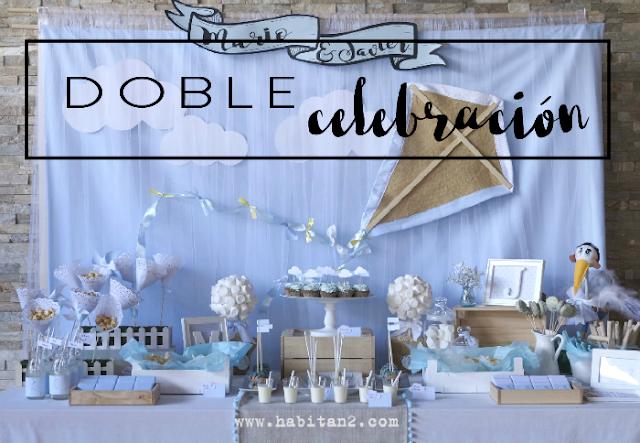Comunión y bautizo:2 en 1 diseño de Habitan2 | Decoración handmade para hogar y eventos |Fiestas personalizadas low cost