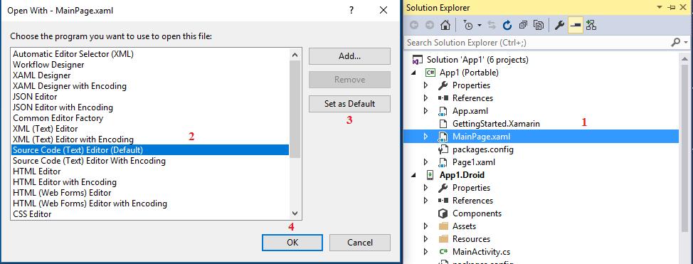 Solution: Xamarin Forms Intellisense is not working inside Grid
