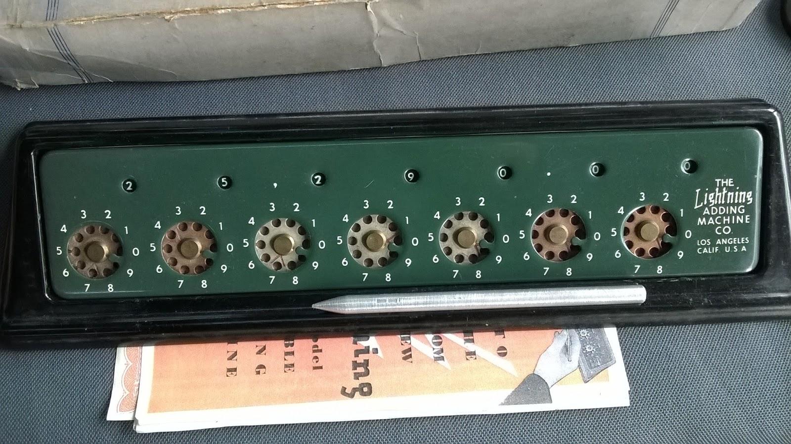 Original Lightning Adding Machine Control Panel