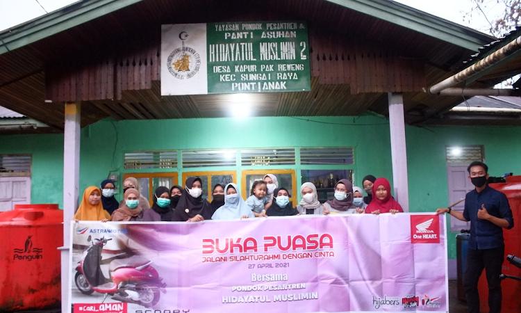 Hijabers dan Astra Motor Kalbar Mengadakan Bukber di Pondok Pesantren Hidayatul Muslimin