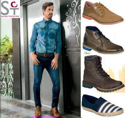 Zapatos Salvaje Tentacion Caballero OI-2016