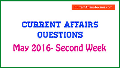 Current Affairs May 2016 Free PDF