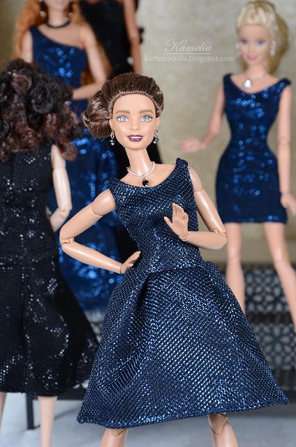 Handmade evening dress for Barbie doll