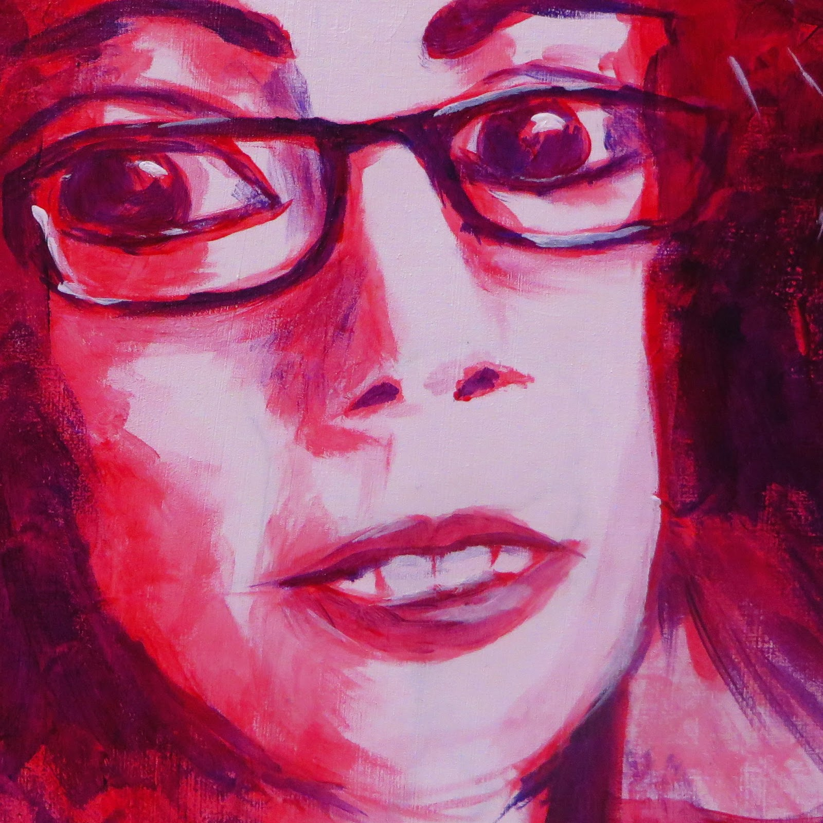 Self Portrait in Red and Purple