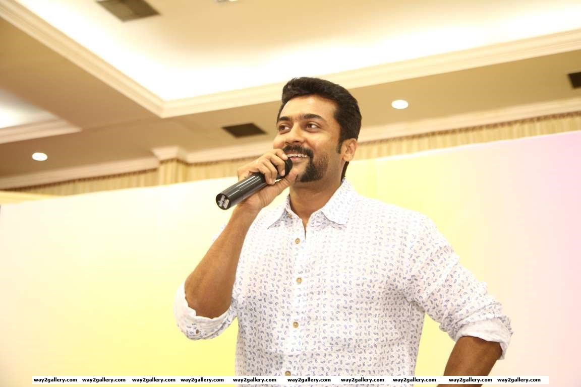 Tamil actor Suriya celebrated his st birthday with his fans
