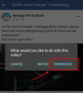 cara download film di facebook