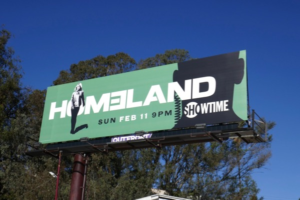 Homeland season 7 green billboard