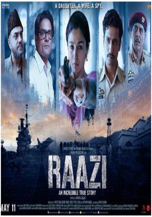 Raazi 2018 Full Hindi Movie Download Hd In pDVDRip 700Mb