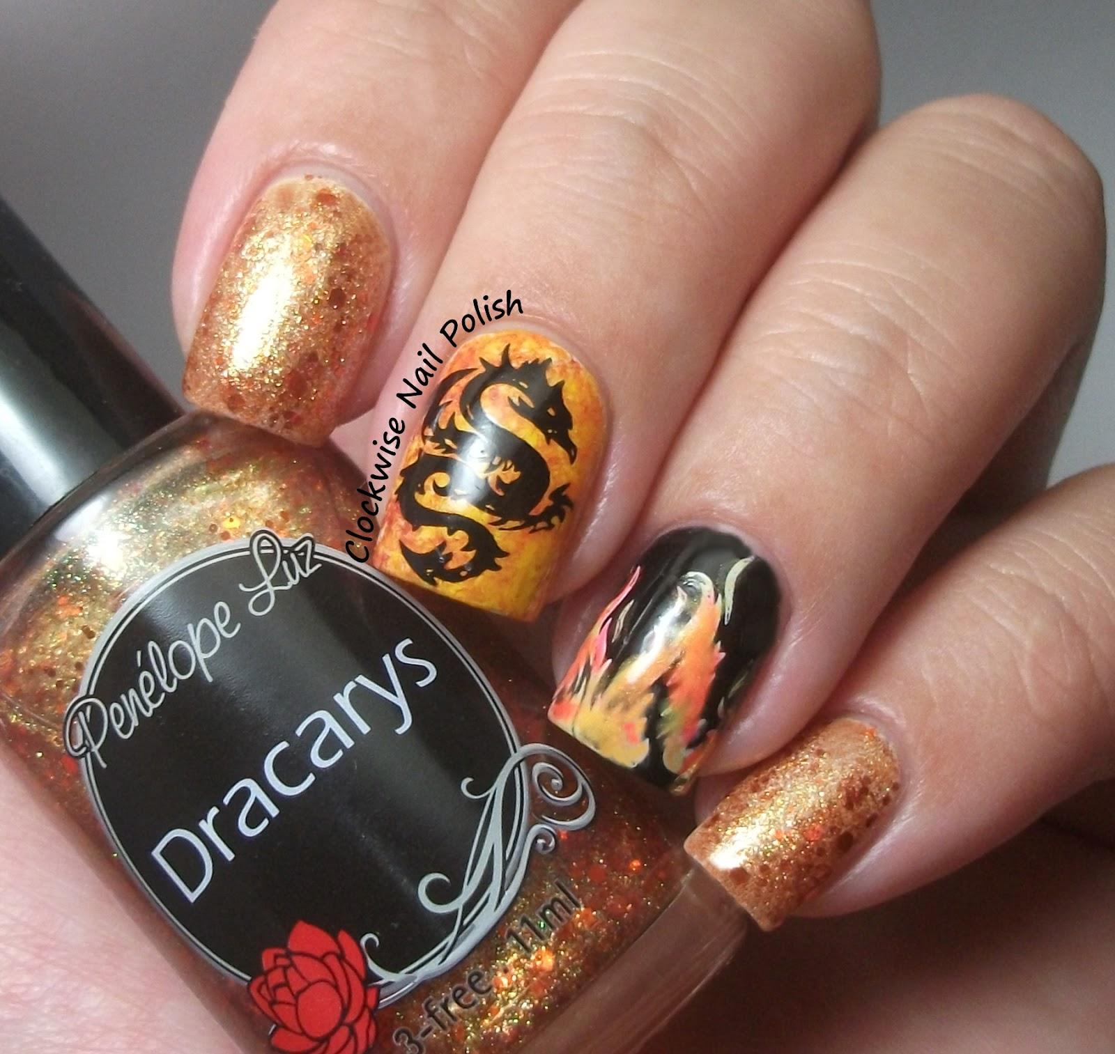 The Clockwise Nail Polish: Penélope Luz Dracarys & Fire ...