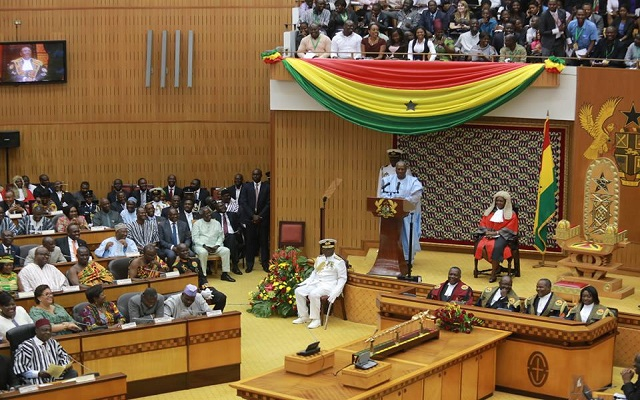 Blows in Ghana Parliament