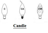 Candle Shaped lamps