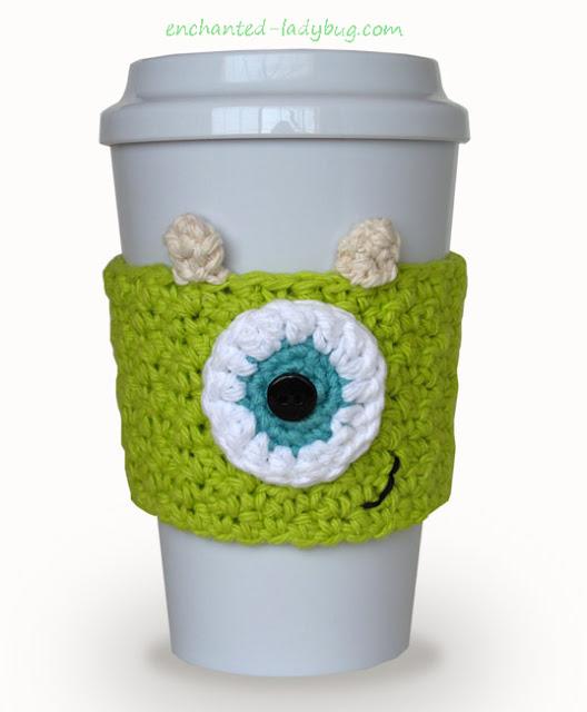 Free Crochet Monster's Inc. Mike Wazowski Cozy Pattern